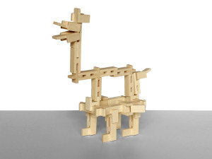 fantasy animal made of wooden brick toys