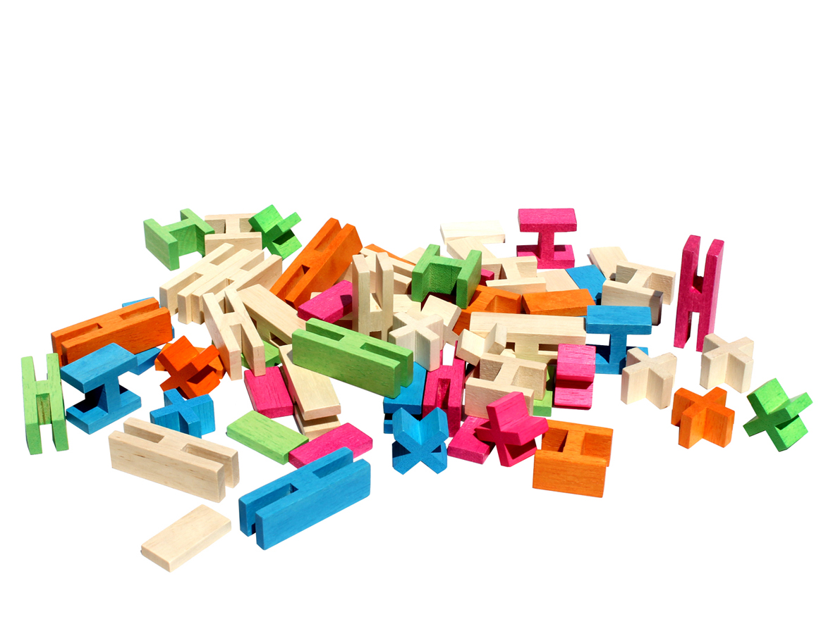 Luco Wooden Building Block Toys