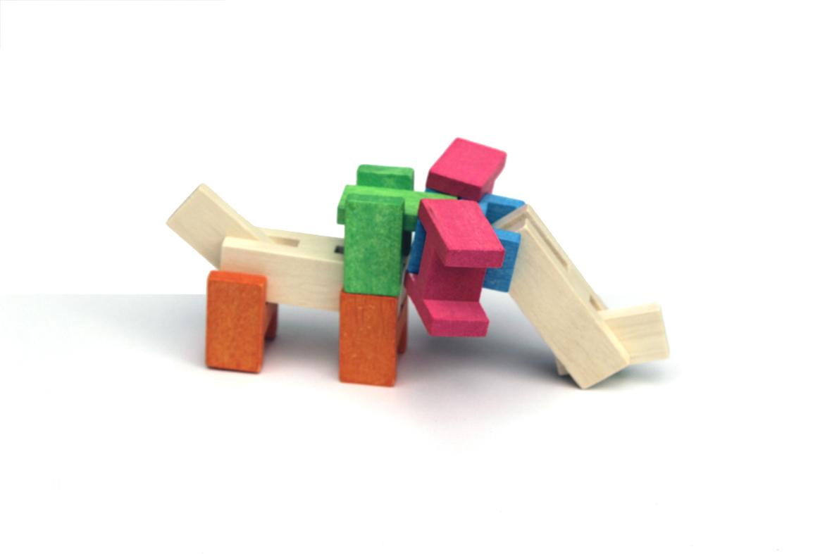 houten blokken olifant
