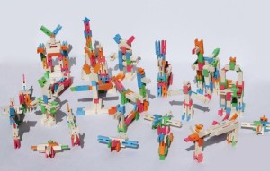 Luco wooden toy figures creatures eco friendly