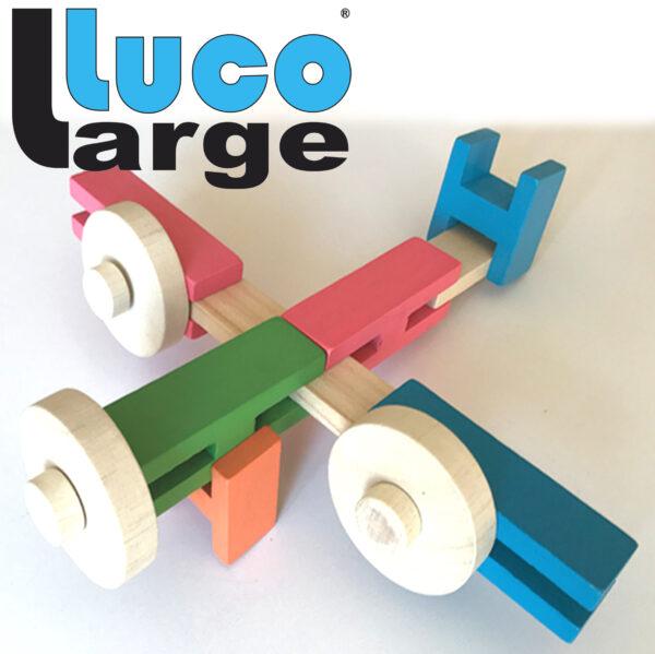 Airplane Vliegtuig van Luco Large and Wheels met wielen