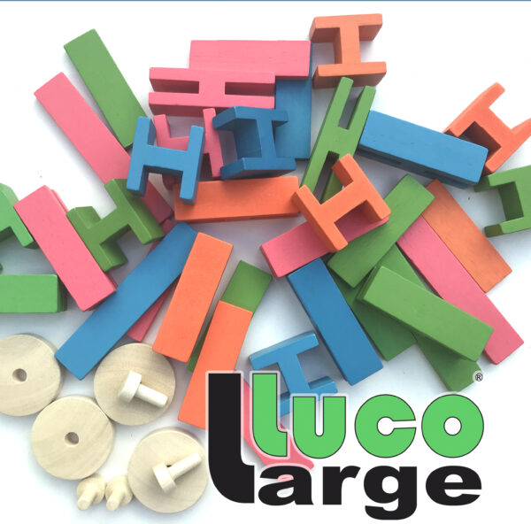 Luco Large For smart children Eco wooden Blocks Lucotoys