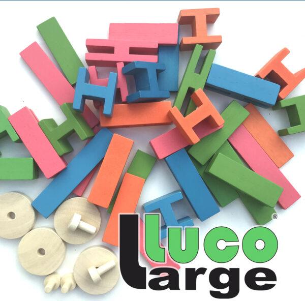 Luco Large For smart children Eco wooden Blocks Lucotoys