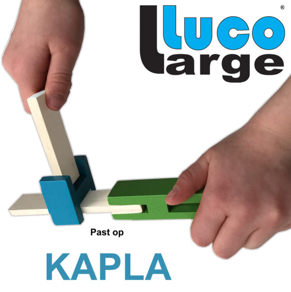 Luco Large For smart children Eco wooden Blocks Lucotoys its Kapla standard planks