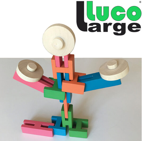 Puppet poppetje made of Luco Large Blocks Blokken